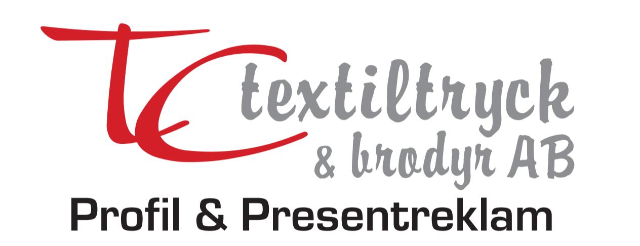 TC textiltryck & Broderi – Profilkläder, Presentreklam & Profilreklam Växjö Logotyp